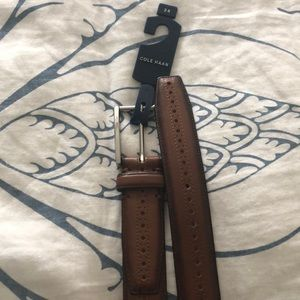NWT Cole Haan brown leather belt